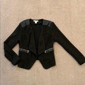 H&M Open front moto tweed blazer